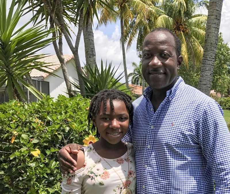 Derrick Reckord and Daughter