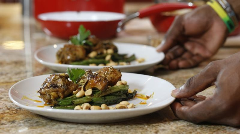 Chef Irie's Chicken in Curry Peanut Sauce | Photo by David I Muir