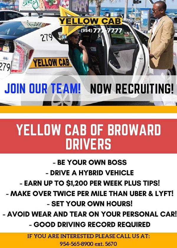 YELLOW CAB of Broward DRIVERS
