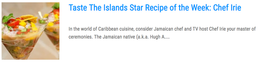 J Perry Leads Line-Up at Taste The Islands Experience