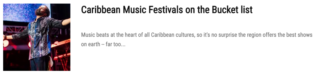 Caribbean Music Fest