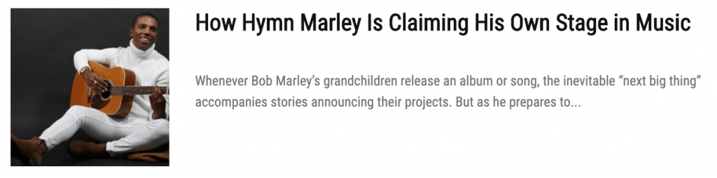Bob Marley's Grandson Skip Marley Has Serious Talent