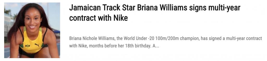 Briana Williams is Jamaica's Next Track Sprinting Superstar