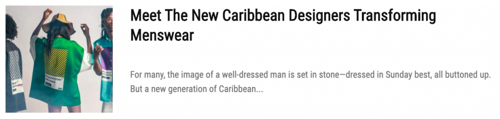 Stylish Quarantine Outfits by Caribbean Designers
