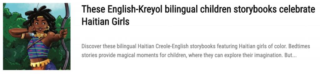 Best Haitian Children's Books to Entertain your Kids