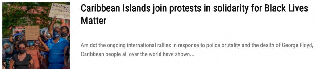 caribbean protests