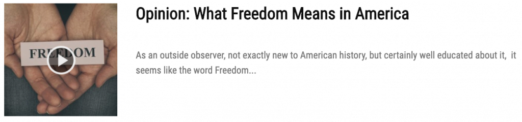 freedom means in America