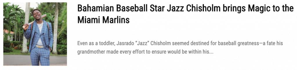 jazz chisholm baseball