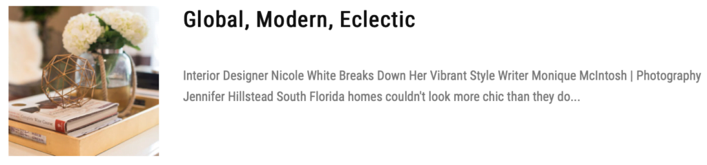 global modern eclectic