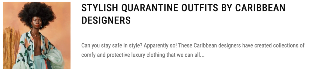 quarantine outfits in caribbean
